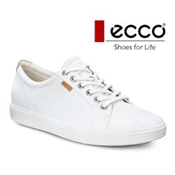 Pantofi albi, moderni dama din piele ECCO Soft 7