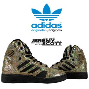 Pantofi sport adidas Originals Jeremy Scott Instinct HI Rainbow