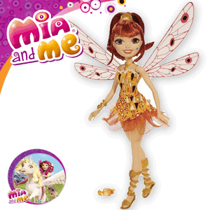 Papusa Mattel Mia si Eu Zana cu aripi Yuko
