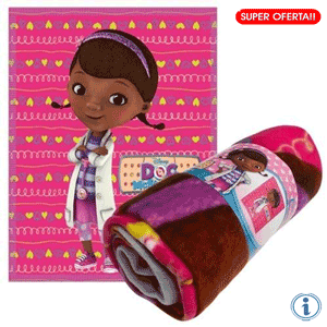 Patura fleece Disney Doctorita Plusica Heart Doctor McStuffins