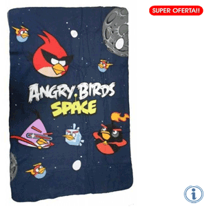 Paturica copii Fleece Angry Birds Space 100 x 150 cm