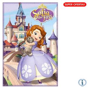 Paturica polar Disney Printesa Sofia Intai Castel