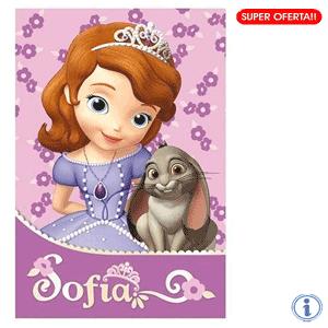 Paturici fetite Fleece Disney Princess Sofia The First