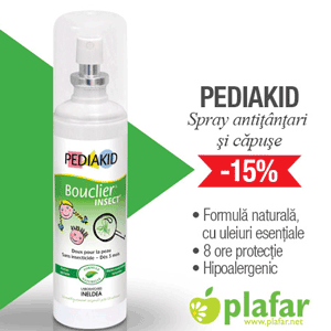 Pediakid Spray Anti tantari si Anti capuse pentru copii la Plafar