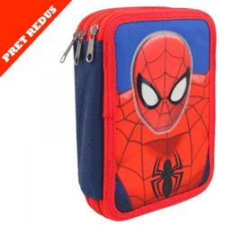 Penar 3 compartimente echipat rechizite Spiderman