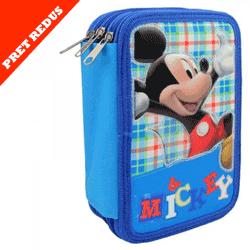 Penar scolar triplu echipat Mickey Mouse Disney