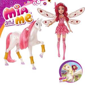 Set personaje Mia si Eu cu Unicorn si Papusa