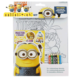 Set rechizite de colorat Minions