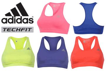 Sutien sport sustinere medie Adidas Tech Fit pentru sala si fitness preturi mici