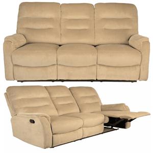 Canapea moderna living room Kring Sylvie cu 3 locuri 2 reclinere culoare Bej