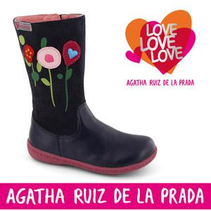 Cizme cu motive florale Agatha Ruiz de la Prada pentru fete