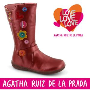 Cizme elegante din piele pentru fete Agatha Ruiz de la Prada