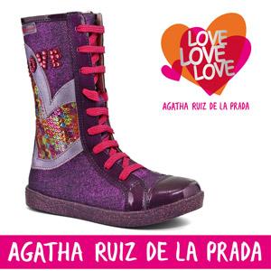 Cizme fete 141962A model cu paiete sport Agatha Ruiz de la Prada