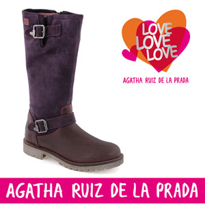 Cizme fete biker rock din piele Agatha Ruiz de la Prada