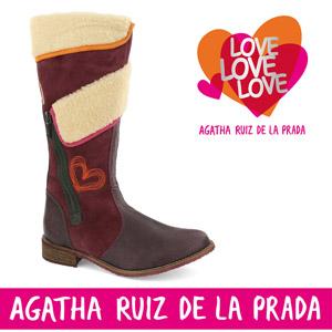 Cizme din piele Agatha Ruiz de la Prada pentru fete