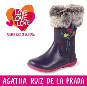 Cizmulite dragute pentru fetite Agatha Ruiz de la Prada