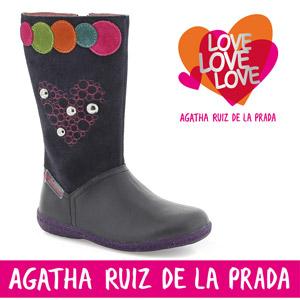Cizmulite frumoase din piele Agatha Ruiz de la Prada