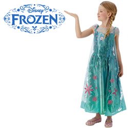 Costum de bal mascat Rochie Printesa Elsa Disney Frozen