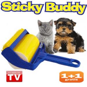 Cu Sticky Buddy cureti parul animalelor de pe haine gresie sau canapea