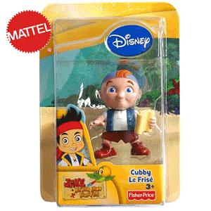 Figurina pirat Cubby Jake şi piraţii din Ţara de Nicăieri de la Mattel.