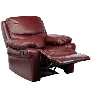 Fotolii Kring Royal cu recliner din piele naturala maro roscat