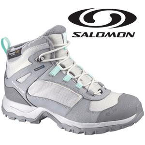 Ghete Salomon usoare de iarna pentru femei Wasatch TS WP W Steel Grey