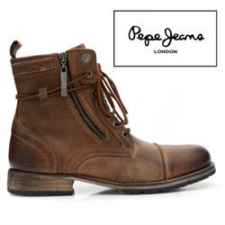 Ghete din piele stil cowboy Pepe Jeans Melting pentru barbati