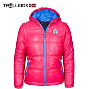 Jacheta 2 in 1 pentru fetite maneci detasabile Trollkids culoare roz