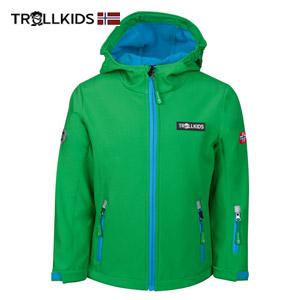 Jacheta anti vant pentru copii baieti si fetite Trollkids Oslofjord Verde