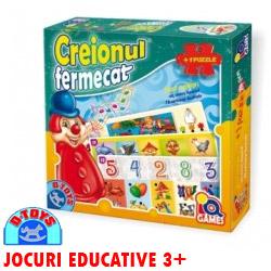 Joc educativ copii gradinita Creionul Fermecat cu Puzzle 24 piese