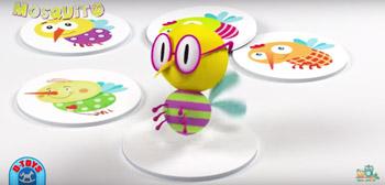Jocul Mosquito pentru copii cu varsta de 3 ani