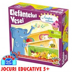 Jocurile interactiv educative Elefantelul Vesel copii 4 ani