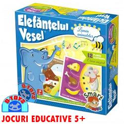 Jocuri educative Elefantelul Vesel Lumea Animalelor copii 4-5 ani