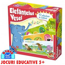 Joc educativ Elefantelul Vesel - Plimbare in natura copii 3-4-5 ani