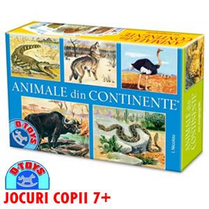 Jocul pentru copii Animale din continente DToys