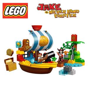 Jucarie LEGO Duplo Corabia Bucky a lui Jake si a Piratilor din Tara de Nicaieri