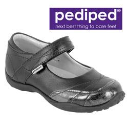 Pantofi de scoala din piele pentru fete Pediped Piper Black
