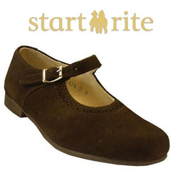 Pantofi eleganti din piele nabuc pentru fetite de scoala Start Rite
