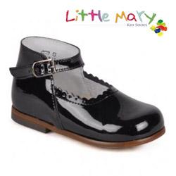 Pantofi piele lacuita pentru scoala Little Mary