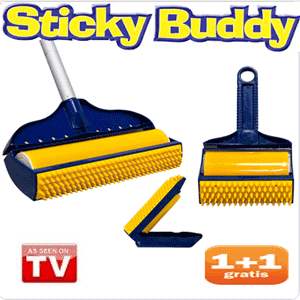 Rola de curatat universala Sticky Buddy pentru covoare, tapiterii, gresie si chiar haine