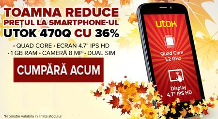 Preturi reduse la telefoanele UTOK 470Q cu ecran mare dual sim
