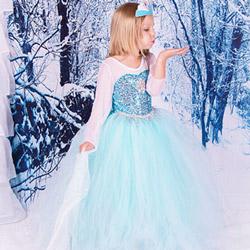 Rochie Halloween pentru fetite Disney Frozen Regatul de Ghiata