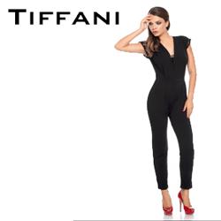 Salopeta dama eleganta culoare neagra Tiffani