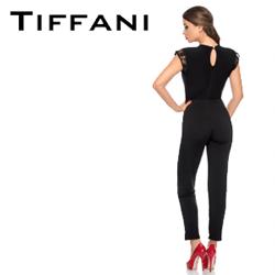 Salopeta neagra eleganta Tiffani