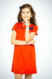 Sarafan gradi si scoala pentru fete 3-12 ani culoare rosu