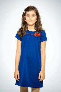 Sarafan scoala fetite Be You albastru