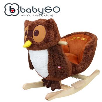 Balansoar copii BabyGo cu sunete Bufnita Inteleapta