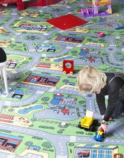 Diverse modele de mocheta pentru camera copiilor