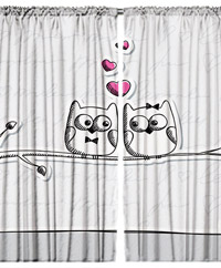 Draperie 3D - Owl Love