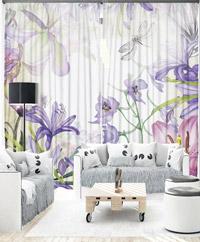 Draperie 3D - Vintage Lilac Bouquet